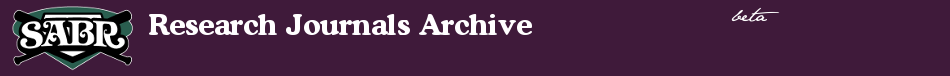Society for American Baseball Research - Research Journal Archives